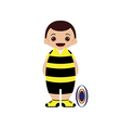 Cartoon rugby player vector image