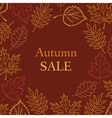 autumn pattern with the inscription vector image