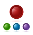 Colorful glossy button icon set vector image