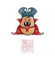 funny cartoon cute dracula potato with vector image
