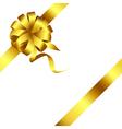 Gold bow and ribbon 2 vector image