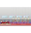 Gymnastic sport competition arena interior vector image