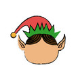 happy merry christmas elf character vector image