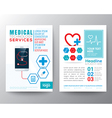 Health Care and Medical Poster Brochure Flyer vector image