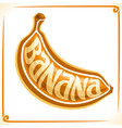logo for banana vector image