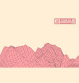 pink mountains on a yellow background vector image