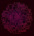 sport line icon circle concept vector image