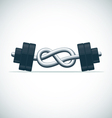 sports knot vector image