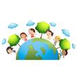 Happy children around the world vector image vector image