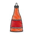 color crayon stripe cartoon red jar sauce with vector image