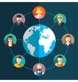 Social network flat vector image