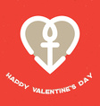 Happy Valentines Day Card with heart and a vector image