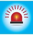 Siren Red Flashing Emergency Light vector image