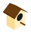 Birdhouse isometric 3d icon vector image