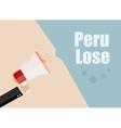 Peru lose Flat design business vector image