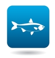 Salmon fish icon simple style vector image