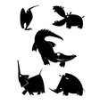 animal silhouettes collection for design vector image
