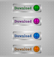 download transparent buttons vector image