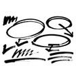 grunge brush stroke different grunge vector image