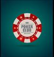 red white casino poker chip with luminous vector image