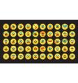 Set of neon emoji vector image