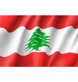waving flag of lebanese republic vector image