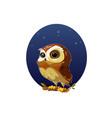 digital funny cartoon owl vector image vector image