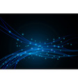 Wired background - blue energy vector image vector image