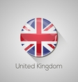 European flags set - United Kingdom vector image