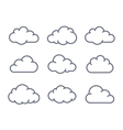 Cloud shapes collection vector image vector image