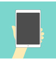 tablet hand on vector image