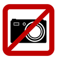 Sign of prohibition of photo camera vector image