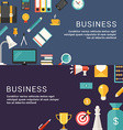 Business Concept and Icons in Flat Design Style vector image