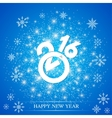 Text design Happy New Year 2016 on the blue vector image