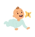 Baby kid and butterfly vector image