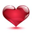 Big shiny red heart vector image