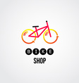 bike logo design vector image