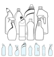 Bottles of Cleaning Products vector image