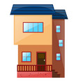 building with blue roof vector image