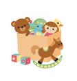 children toy box children toy box vector image