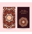 mandala symbol card vector image