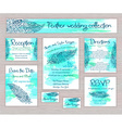 printable wedding typography set of cards with vector image