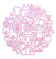 sport line icon circle design vector image