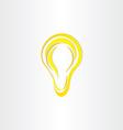 stylized bulb light idea symbol vector image