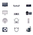 Video electronics icon set vector image
