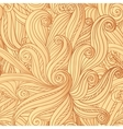 Abstract seamless hand-drawn hair pattern vector image