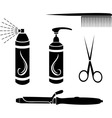 Hairdressing set vector image vector image
