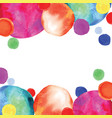 multicolored orbs watercolor confetti vector image