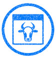 cow page rounded grainy icon vector image