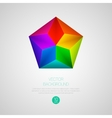 3d triangular background vector image